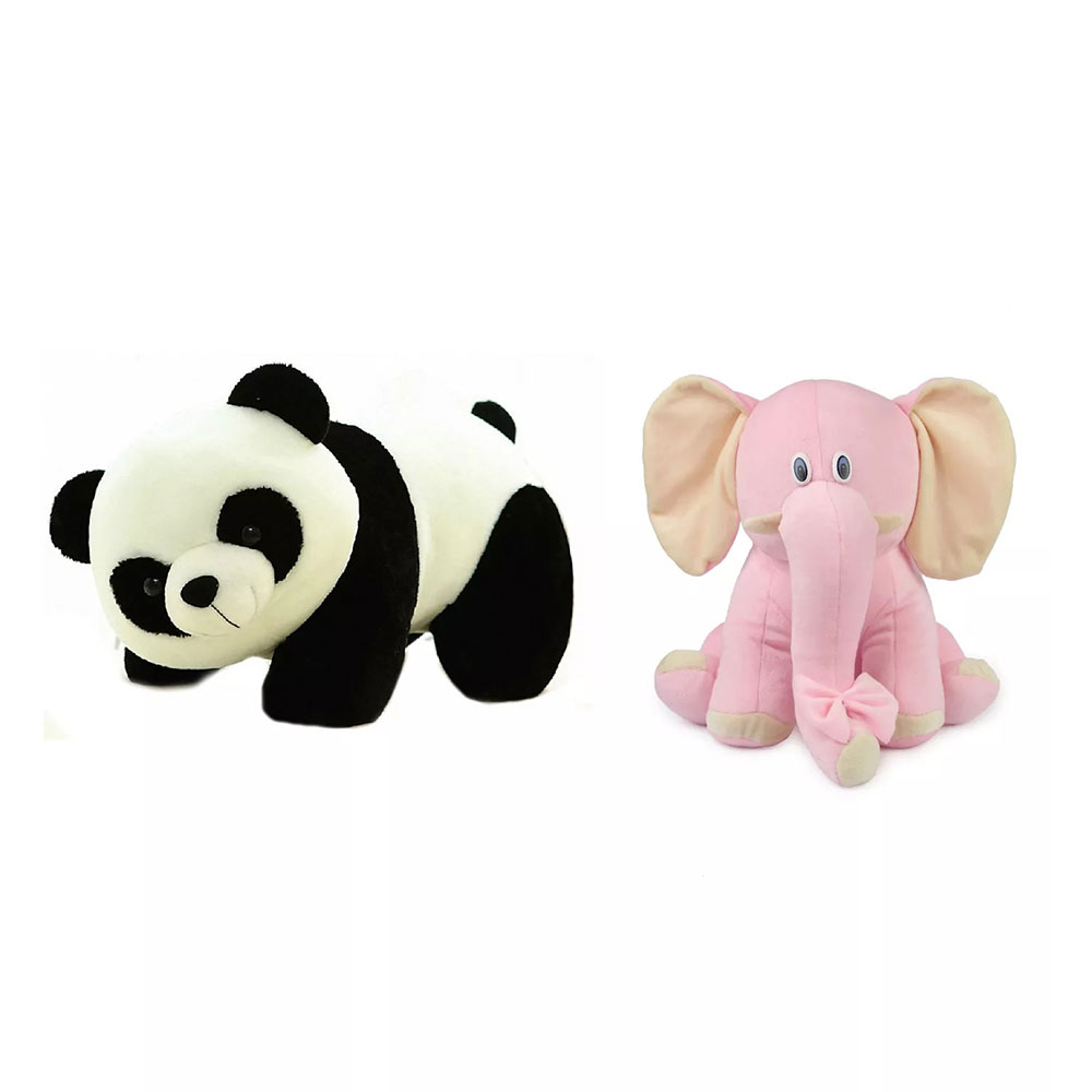 Deals India Panda And Elephant Soft Toy Combo