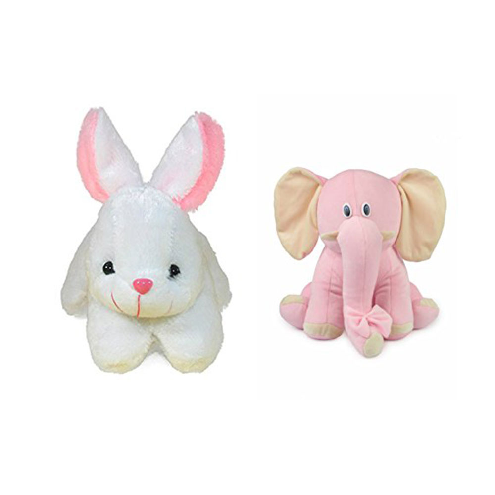 Deals India Rabbit And Elephant Soft Toys