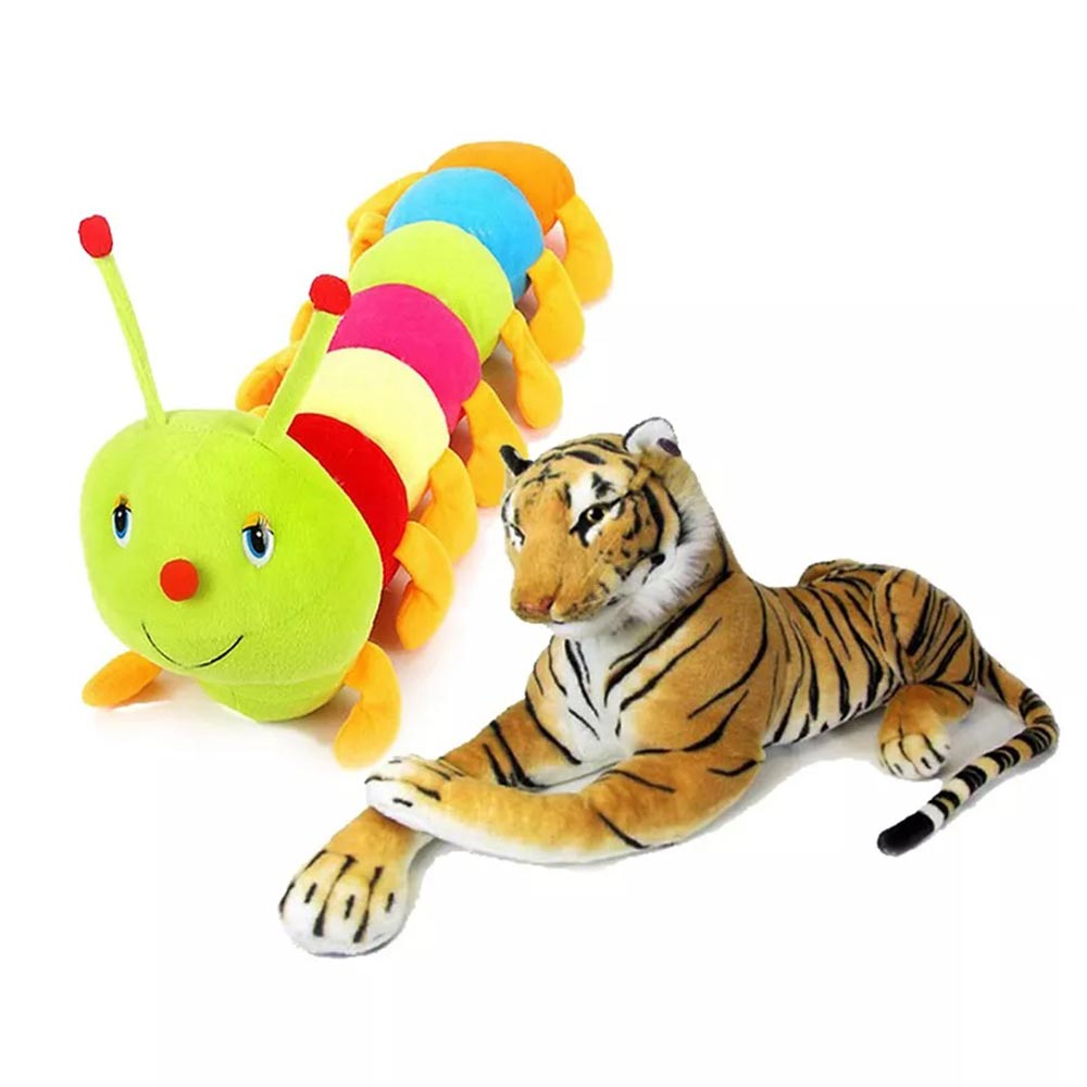 Deals India Stuffed Tiger And Caterpillar Combo