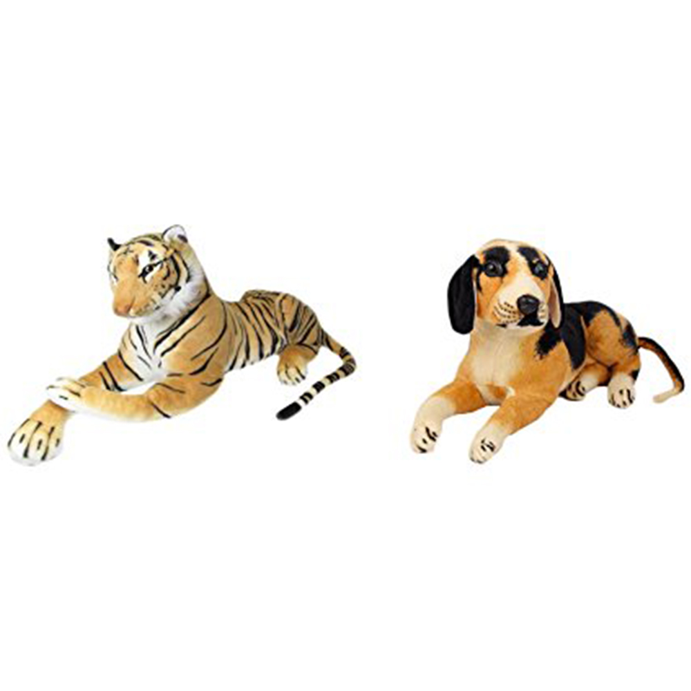 Deals India Tiger And Black Puppy Set