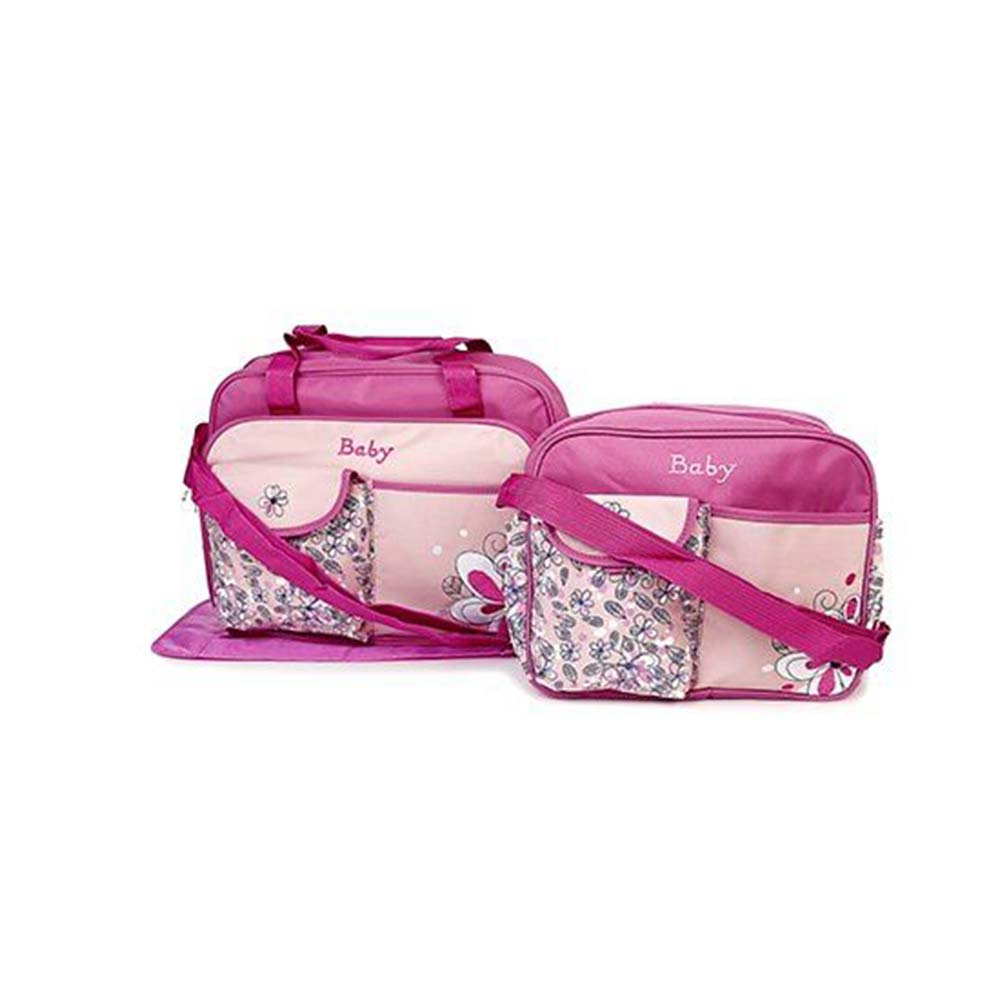 Diaper Bag Set Flower Print With Changing Mat