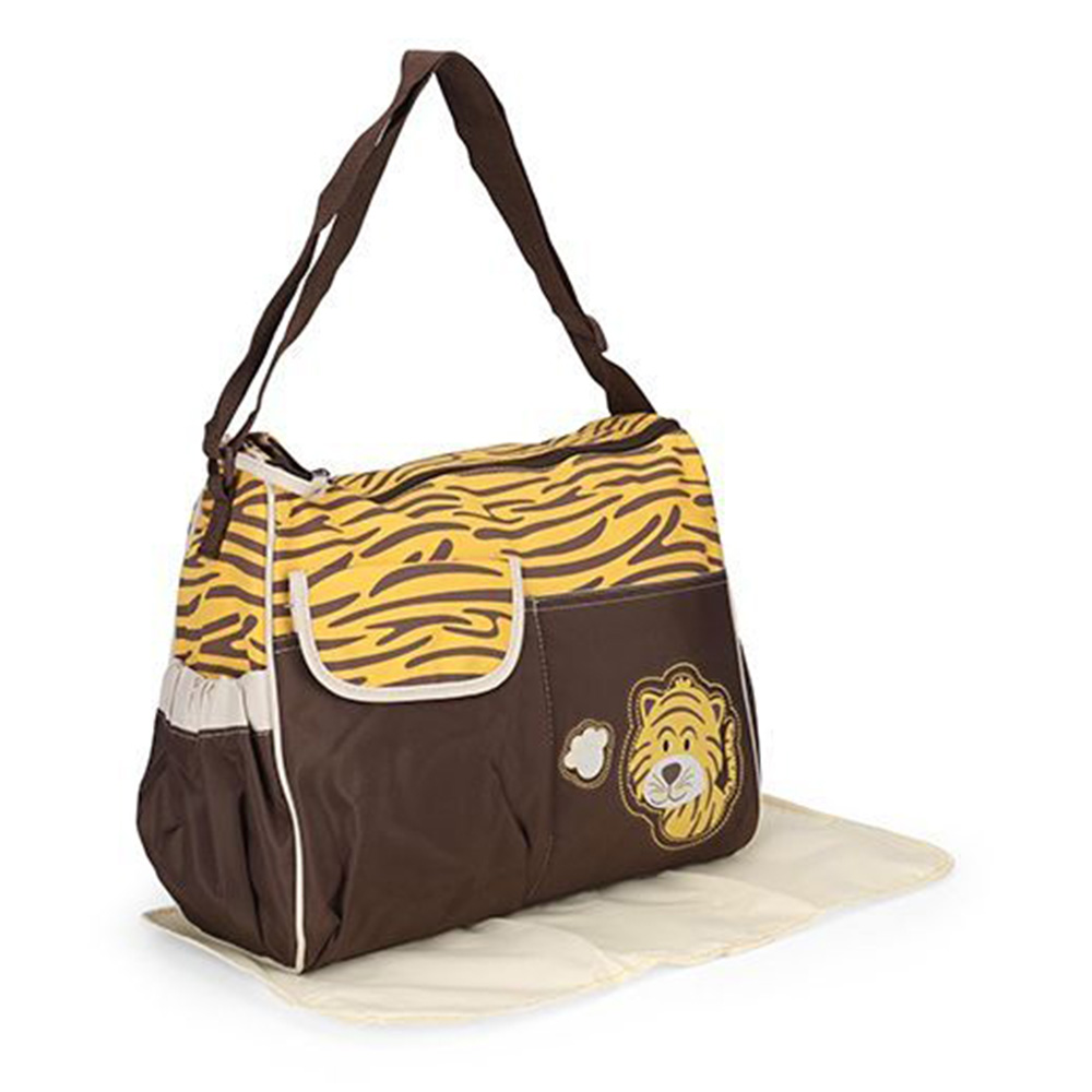 Tiger Print Diaper Bag With Chaning Mat