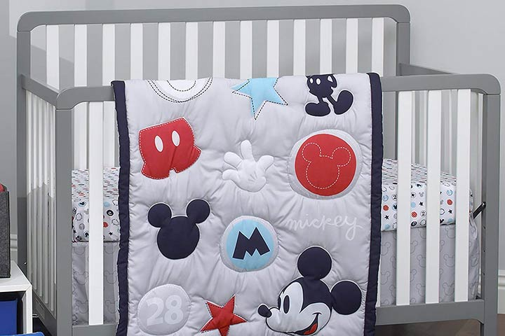 Disney Amazing Mickey Mouse 3 Piece Nursery Crib Bedding Set
