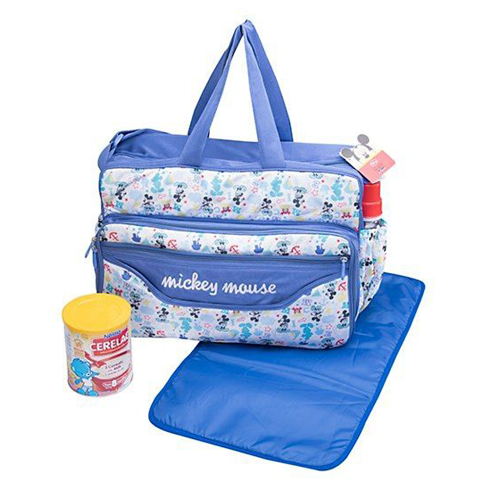 Disney Mickey Mouse Design Diaper Bag With Changing Mat-3