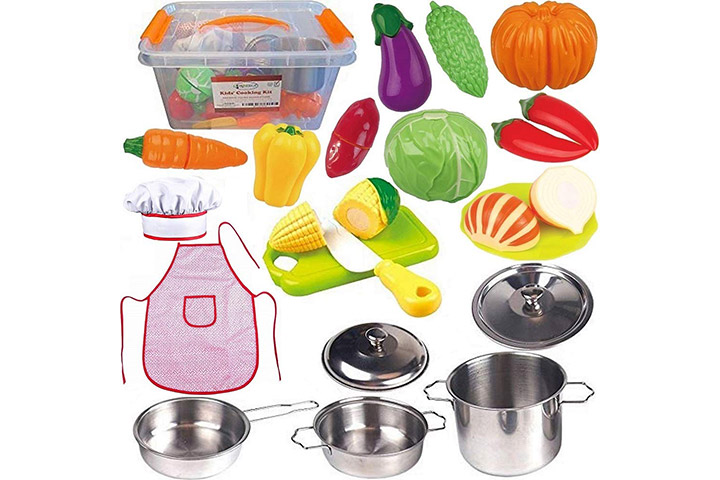 FUNERICA Toddler Play Kitchen Accessories Set