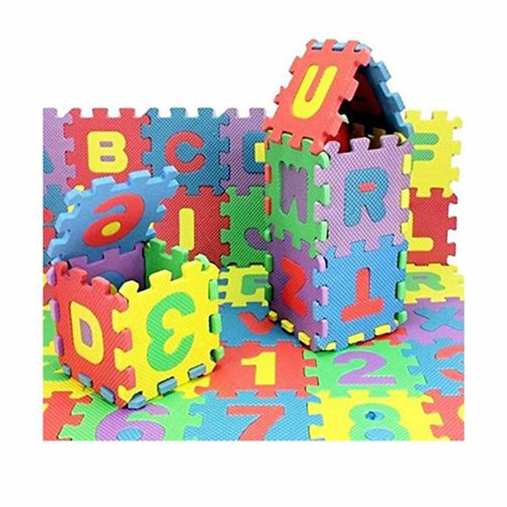 FunBlast Alphabet and Number Interlocking Mat Puzzle