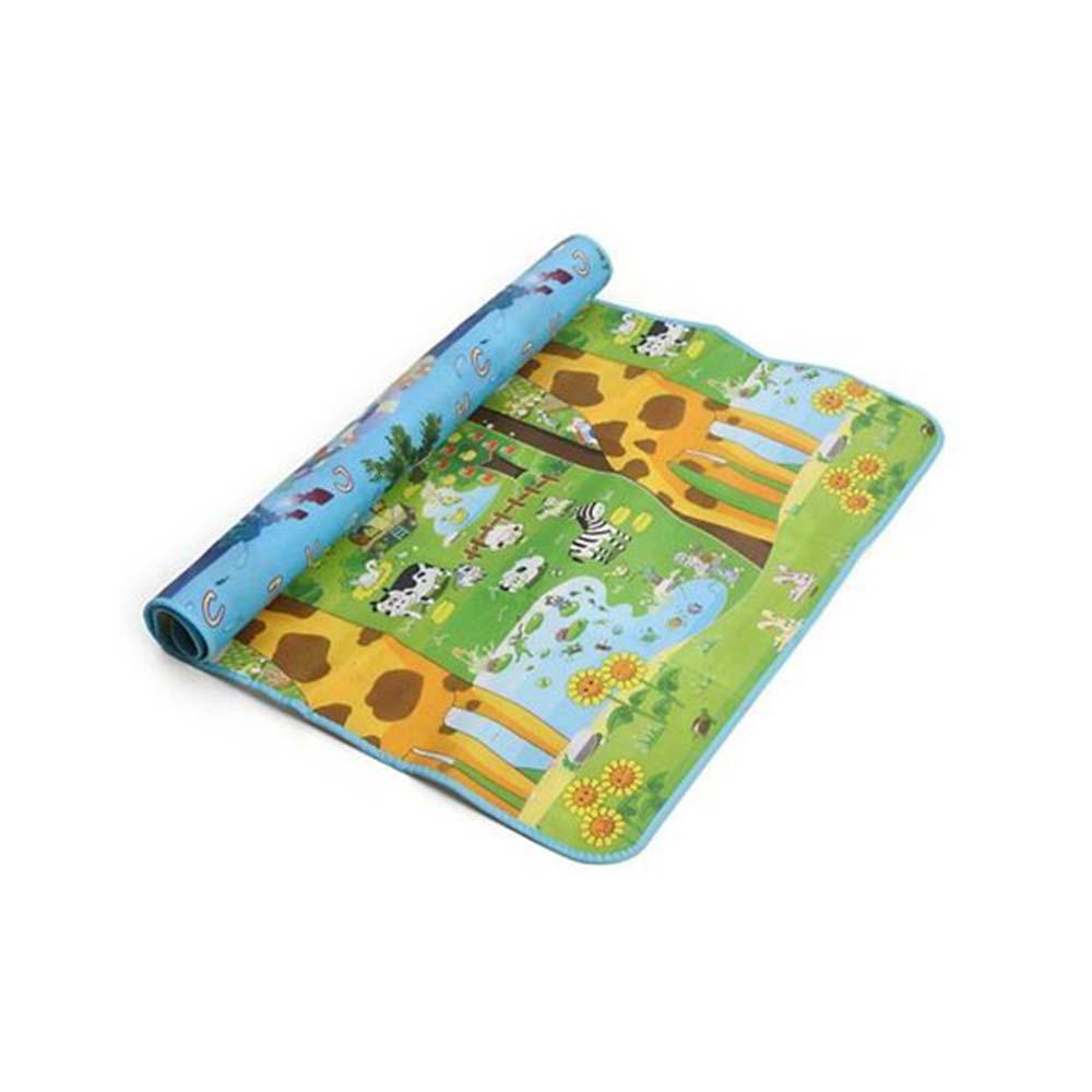 Hrijoy Giraffe & Aqua Marine Print Reversible Play Mat