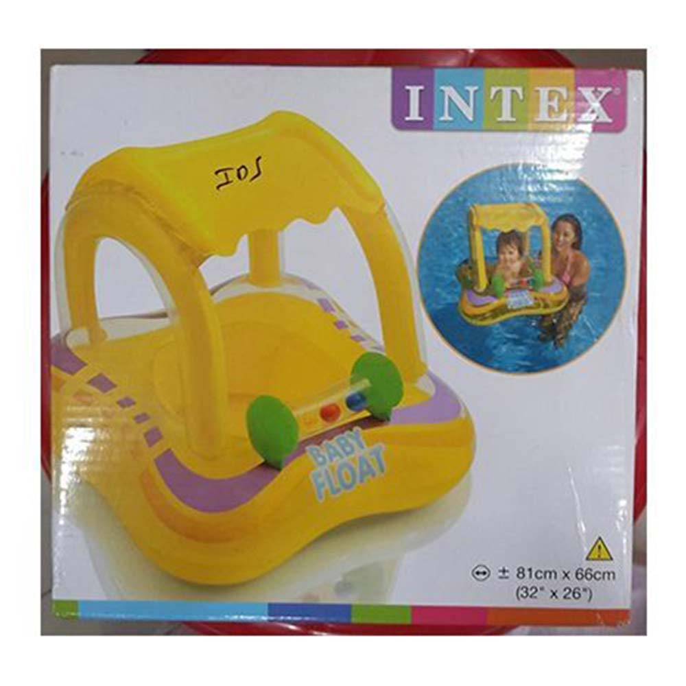 Intex Inflatable Baby Float With Sunshade Canopy