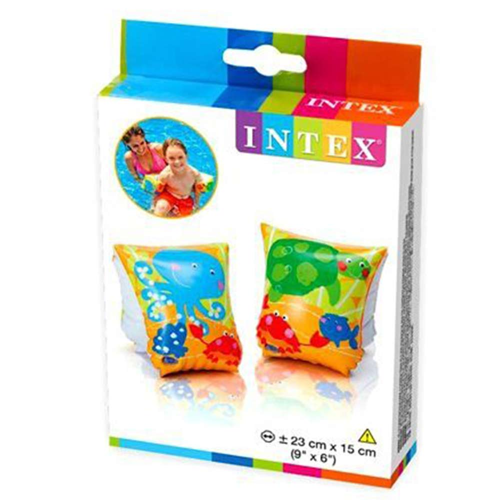 Set Of 4 INTEX Kids Inflatable Swimming Arm Bands Swimming Aid 23 x 15 cm