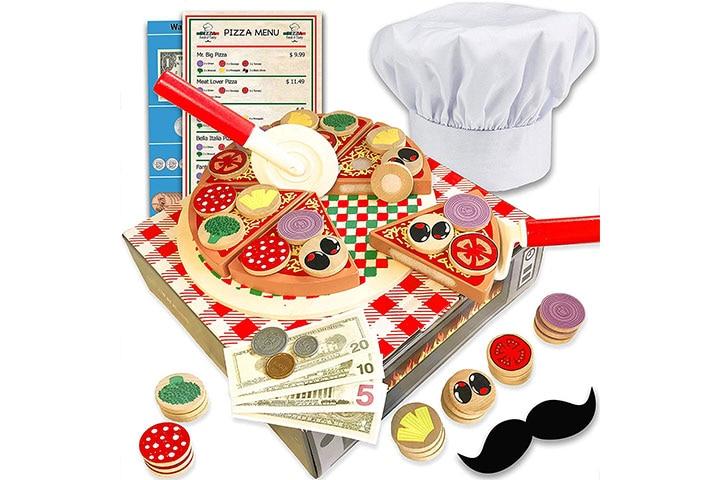 Jogo Jogo Wooden Pizza Toy