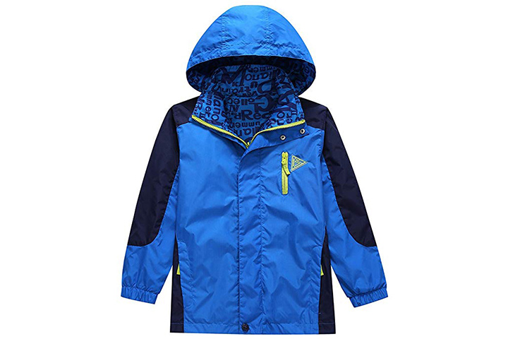 KID1234 Boys' Lightweight Rain Jacket