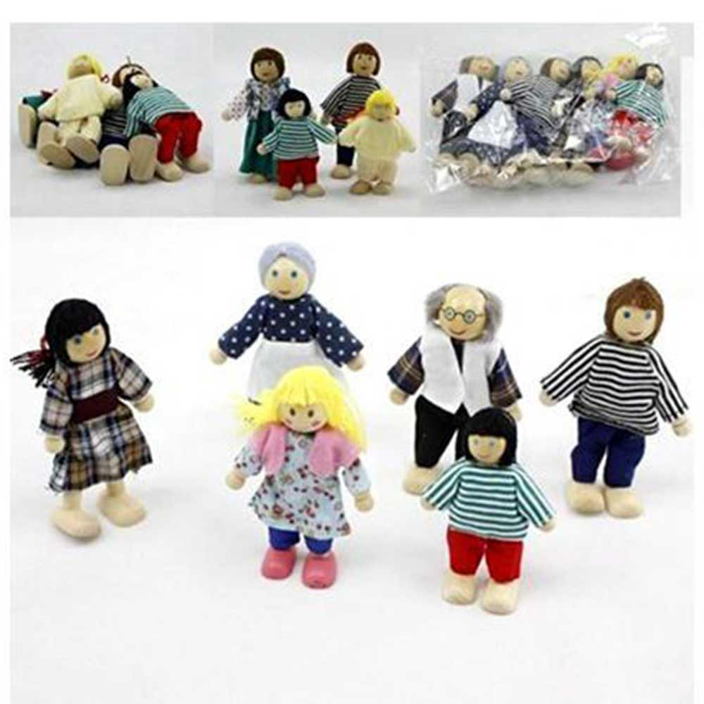 Kuhu Creation Wooden Family Doll Puppet