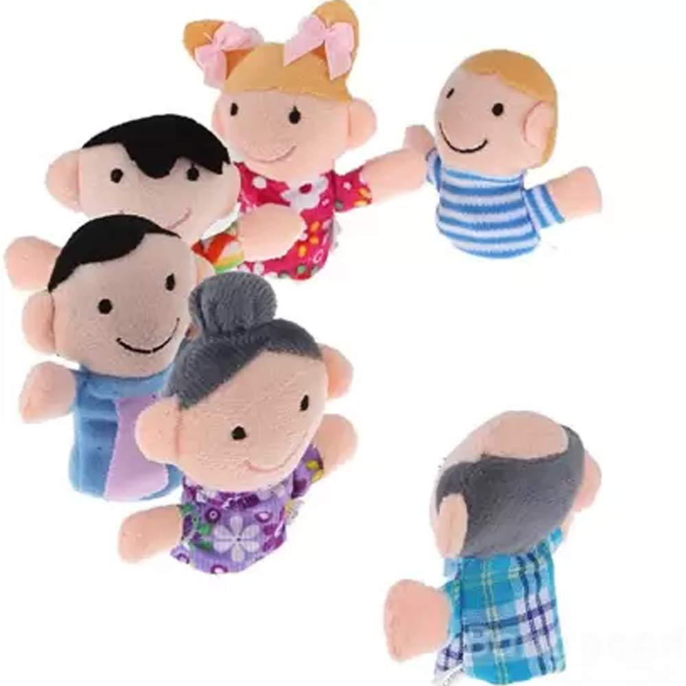 Kuhu Creations Family Finger Puppets Pack-1