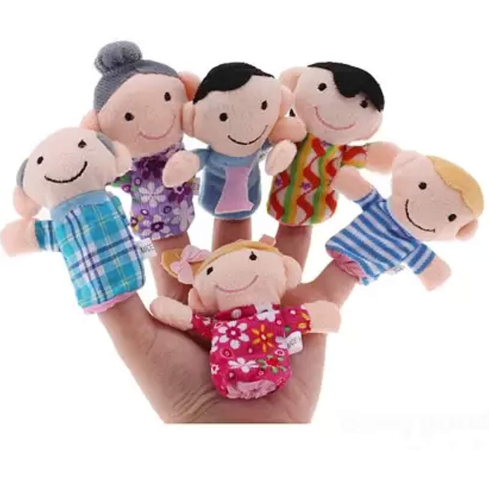 Kuhu Creations Family Finger Puppets Pack-2