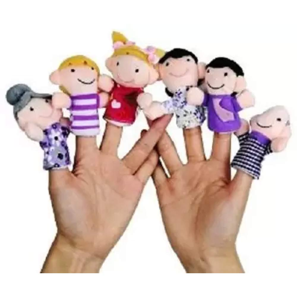 Kuhu Creations Family Finger Puppets Pack-3