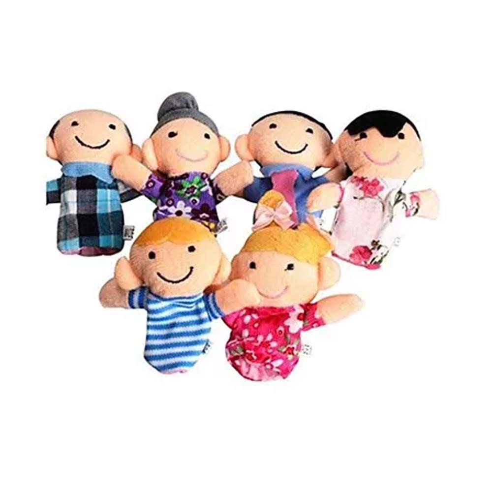 Kuhu Creations Family Finger Puppets Pack-4