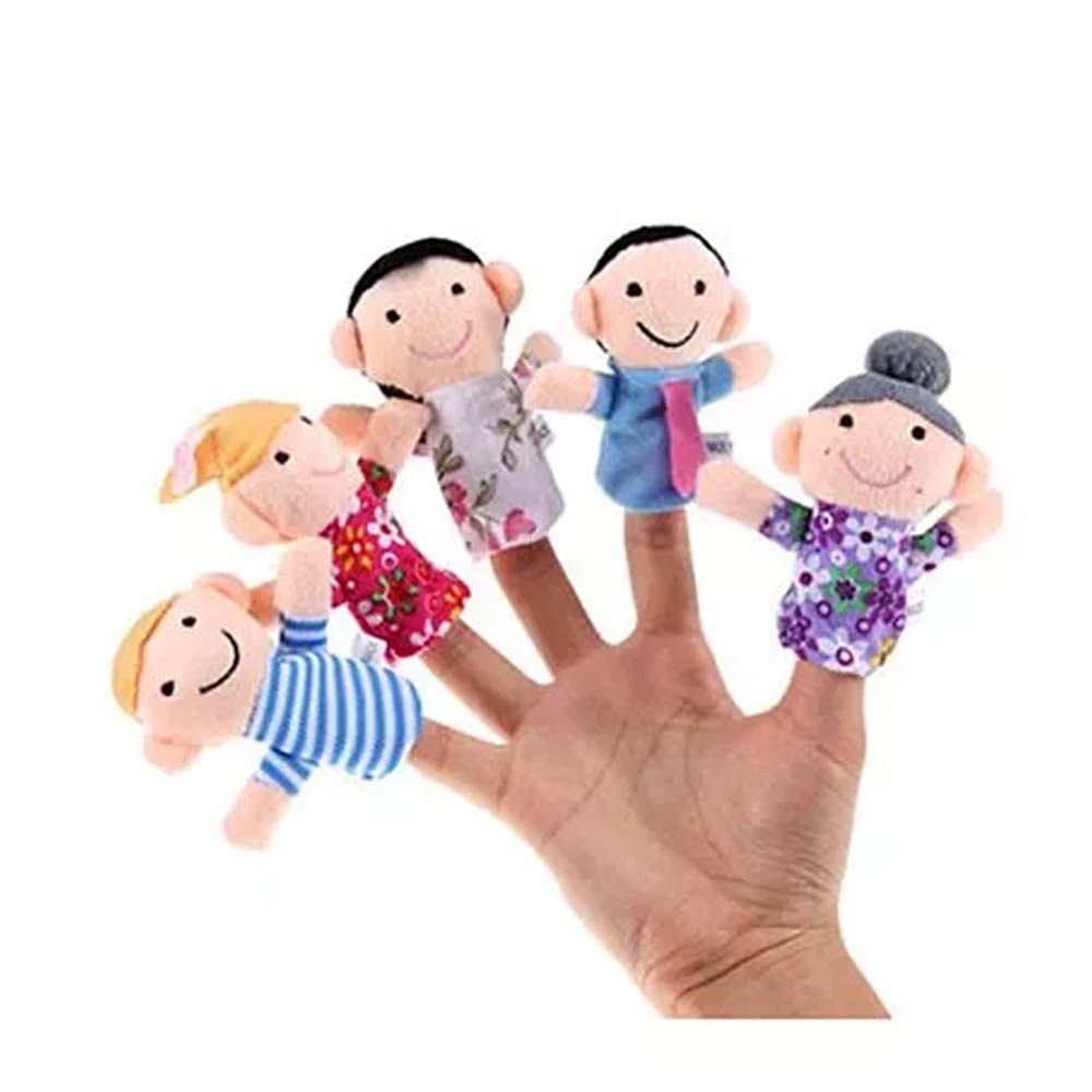 Kuhu Creations Family Finger Puppets Pack-5