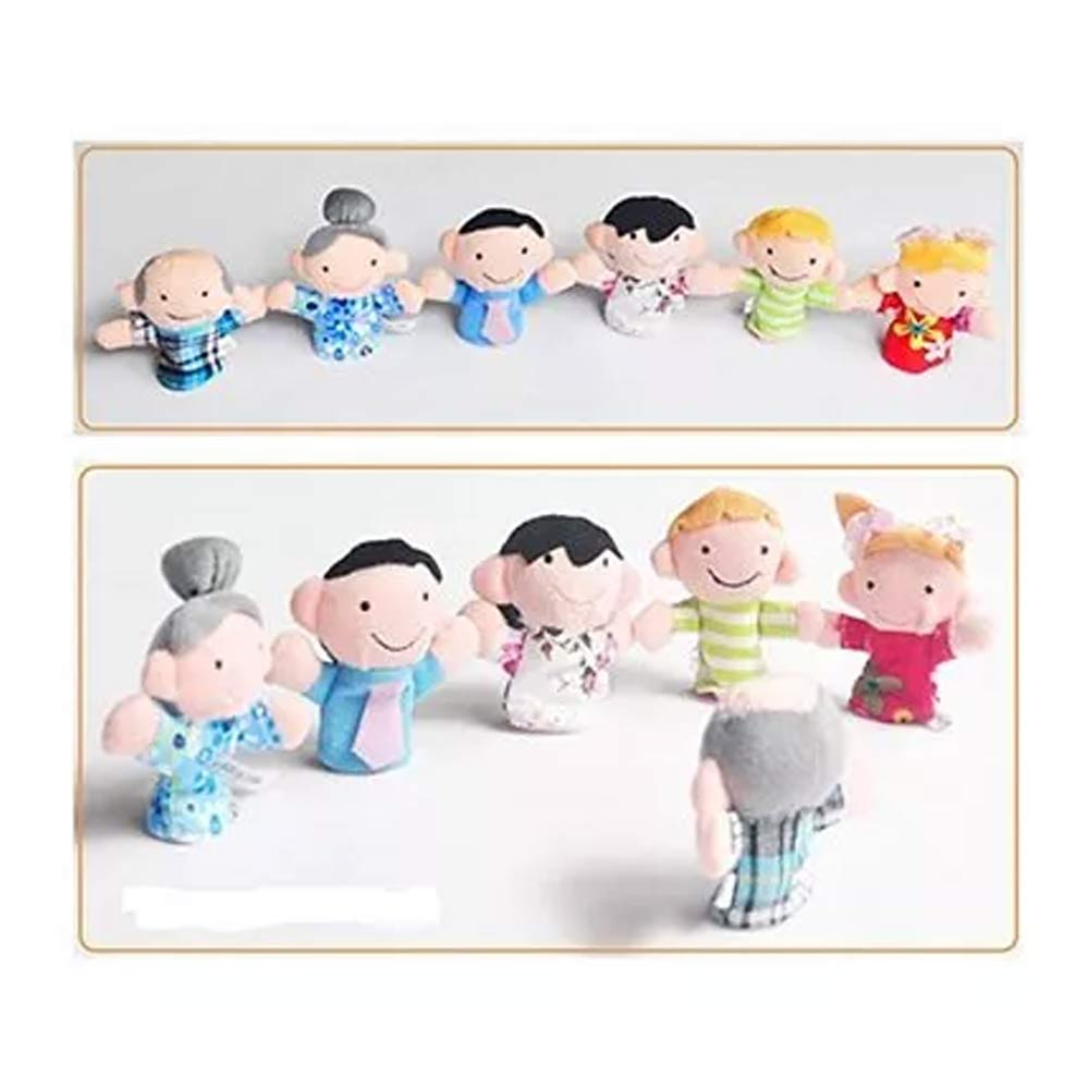 Kuhu Creations Family Finger Puppets Pack-6