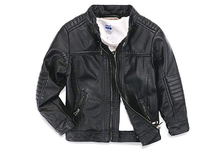 LJYH Boys Leather Jacket