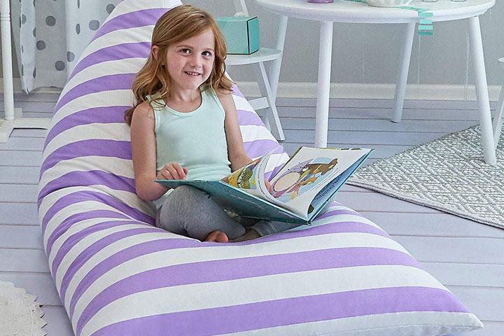 Large Stuffed Animal Storage Bean Bag by Butterfly Craze