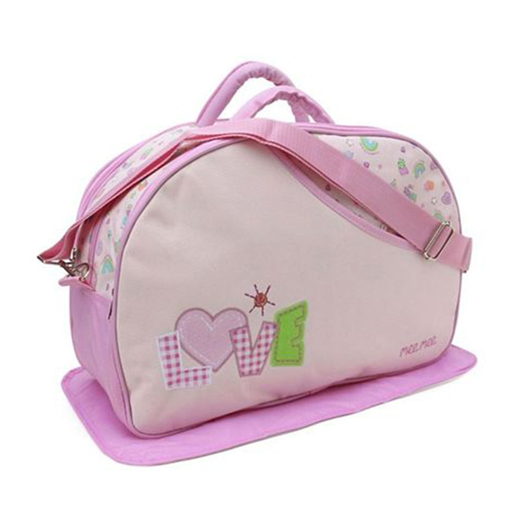 Mee Mee Nursery Bag With Changing Mat Love Print
