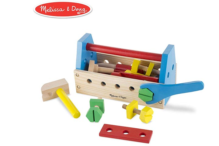 Melissa & Doug Take-Along Wooden Tool Kit