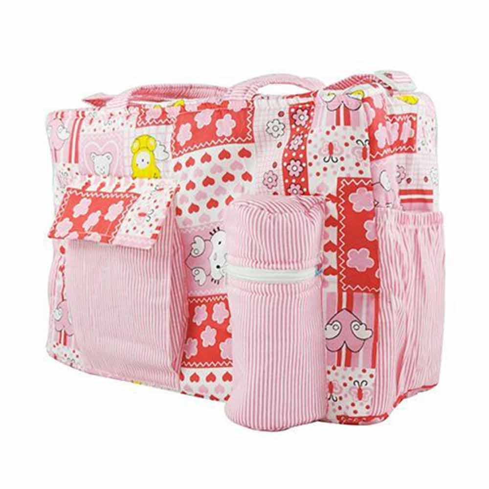 Ole Baby Multi Utility Diaper Bag Heart Print