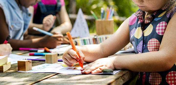 Outdoor Drawing Activity