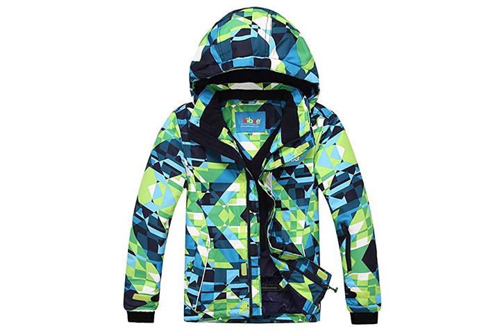 PHIBEE Big Boy's Waterproof Ski Jacket