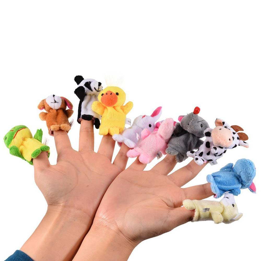 Party Propz Plush Animal Finger Puppets-1