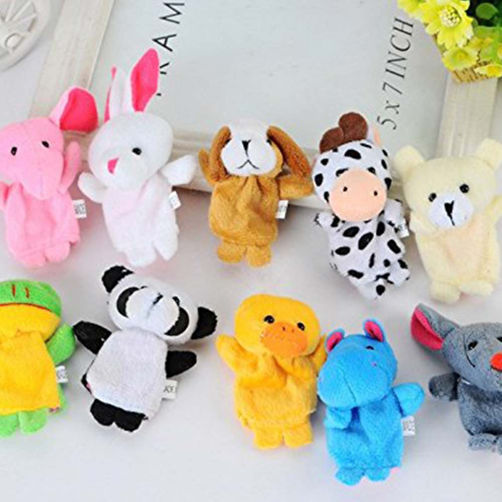 Party Propz Plush Animal Finger Puppets-2