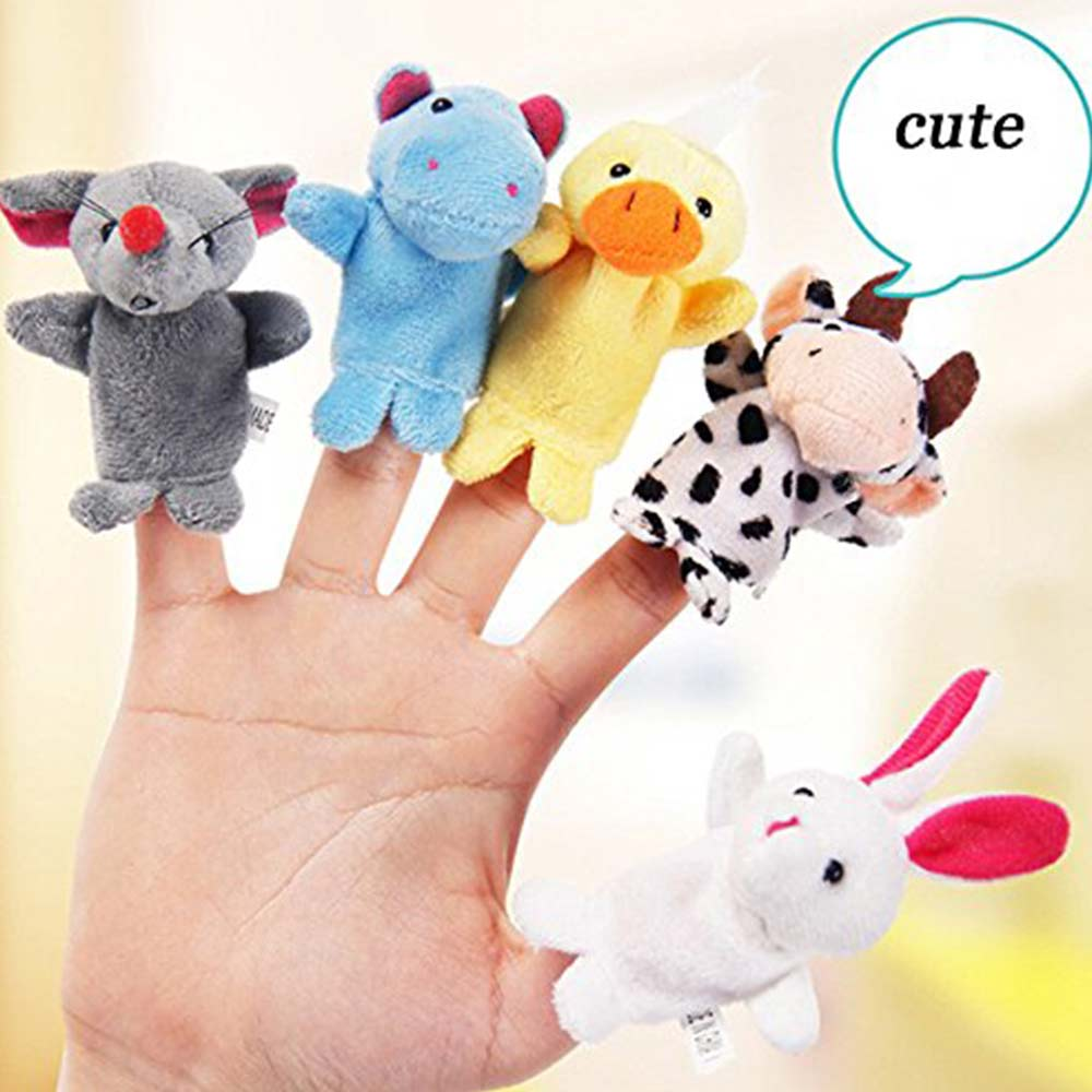 Party Propz Plush Animal Finger Puppets-5