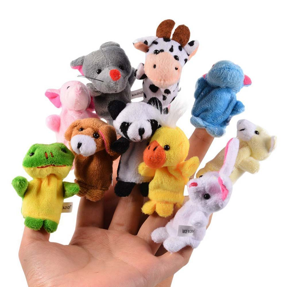 Party Propz Plush Animal Finger Puppets-0