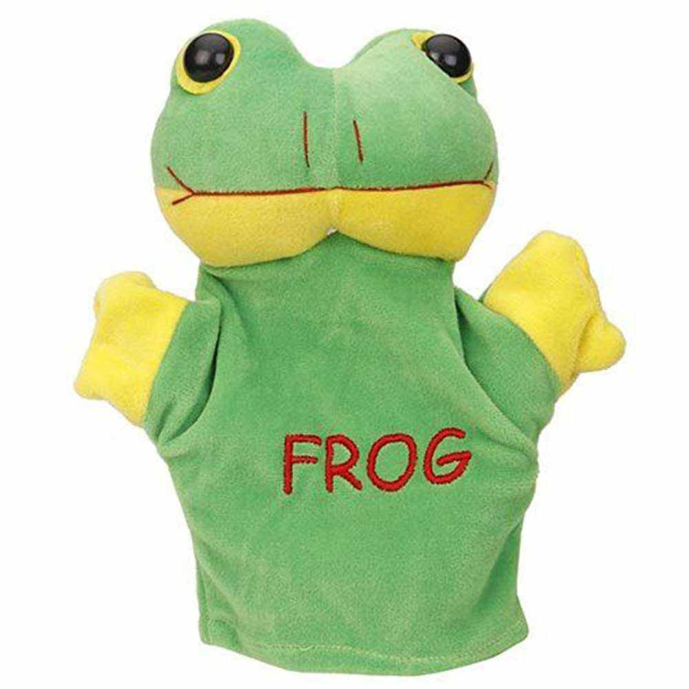 Play Toons Hand Puppet Frog Soft Toy
