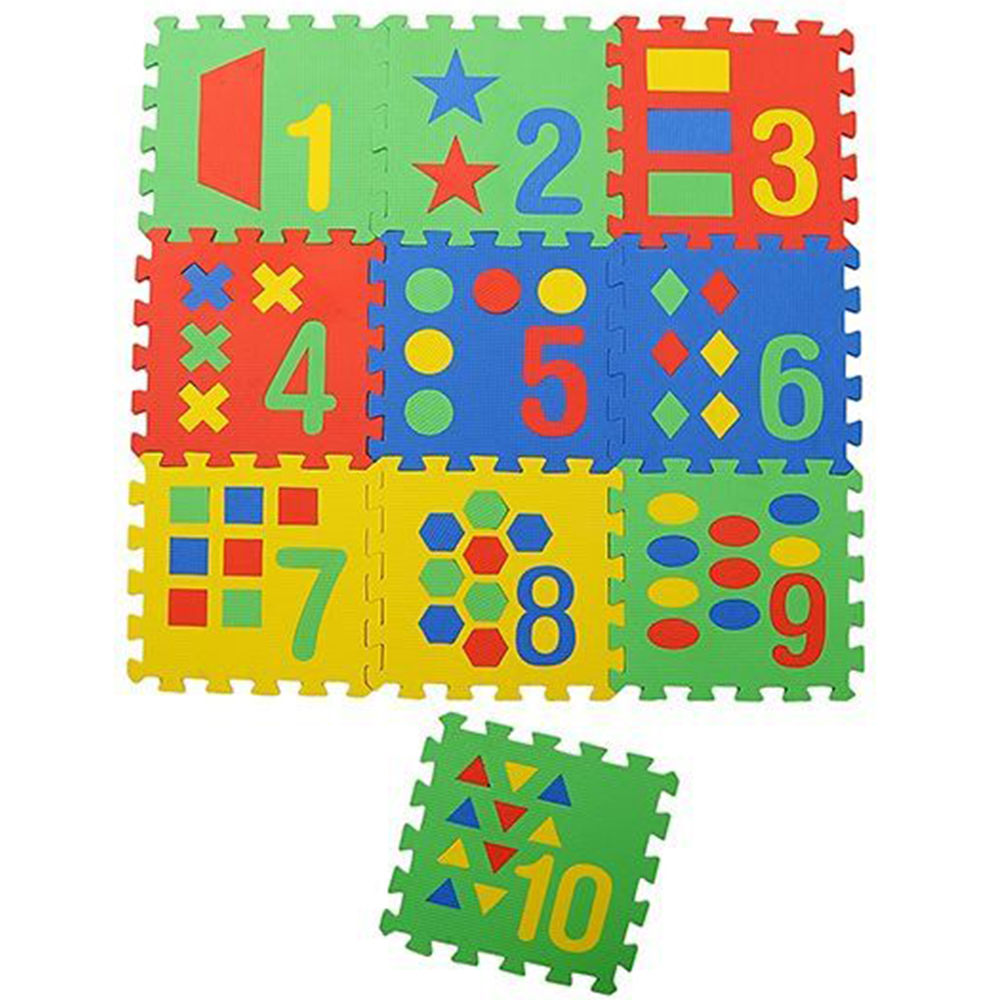 NHR Puzzle Playmat With Pop Out Number Shapes Pack-4