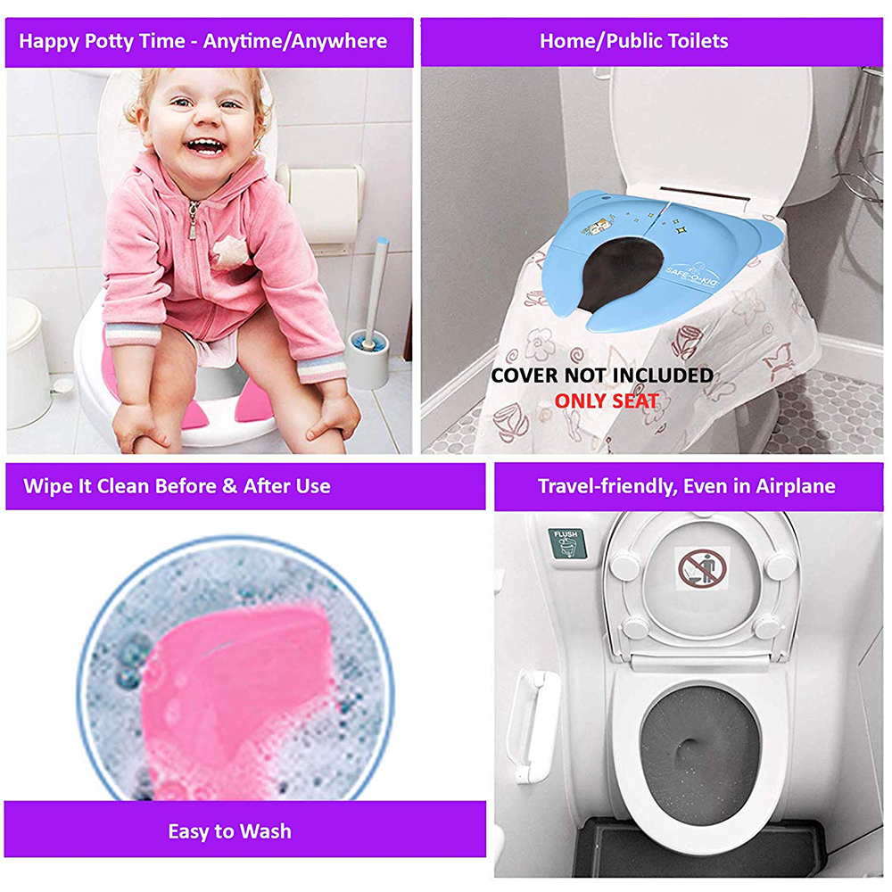 Safe-O-Kid Portable Foldable Potty Seat Best Hygienic Sanitary Toilet Solution for Kids-2