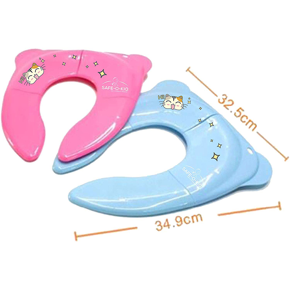 Safe-O-Kid Portable Foldable Potty Seat Best Hygienic Sanitary Toilet Solution for Kids-4