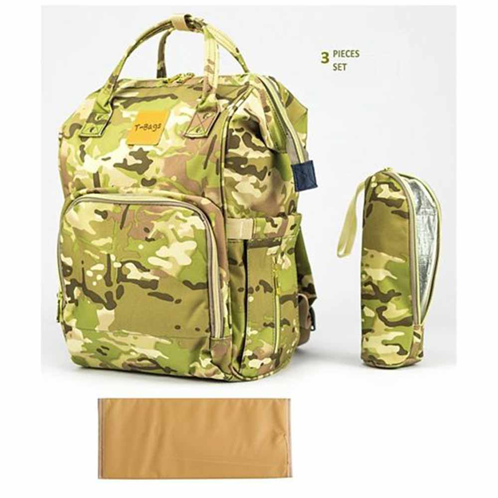 T-Bags Camouflage Design Diaper Backpack