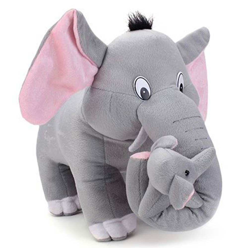 Tickles Mother Elephant With Single Baby Plush Toy