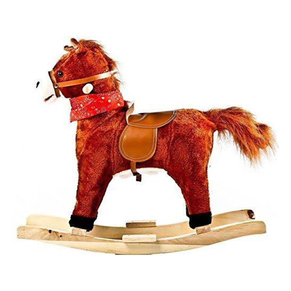 Toyshine Sunshine Horse Mini Wooden Rocker With Music and Light