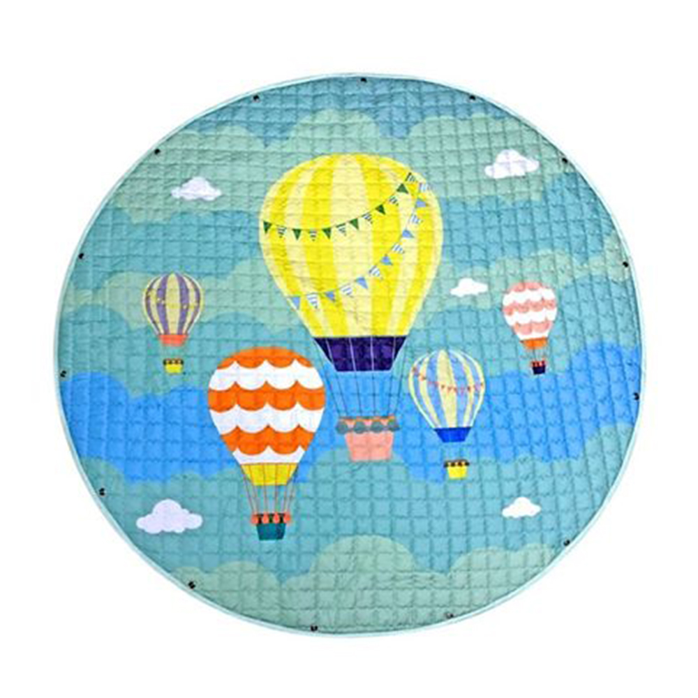 Nee & Wee Cotton Playmat Cum Drawstring Toy Storage Air Balloon Print-0
