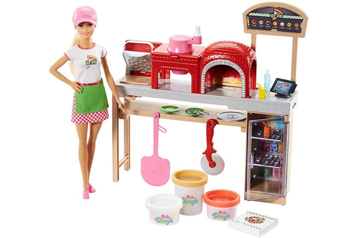 21. Barbie Pizza Chef Doll and Playset, Blonde