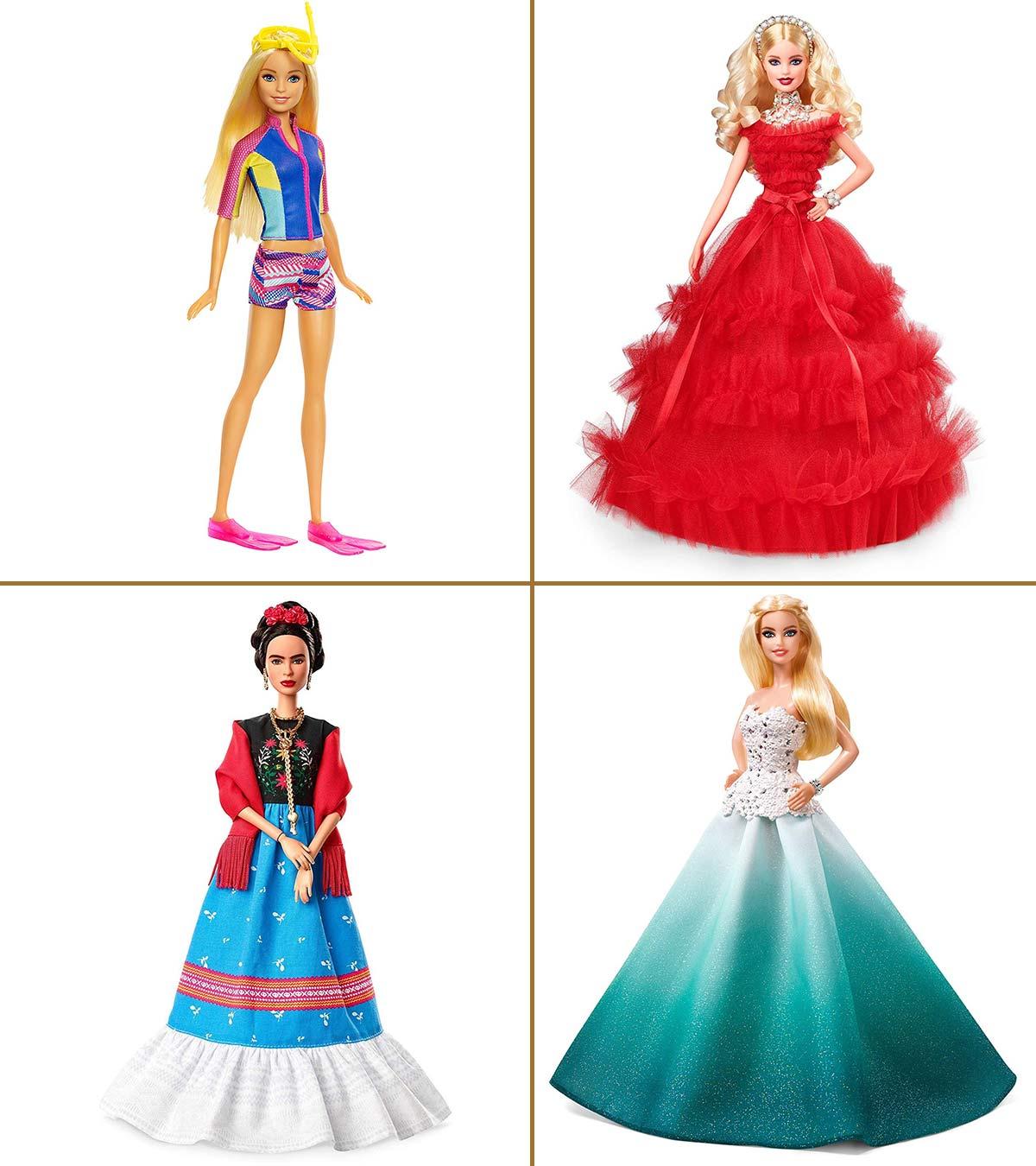 Lot Of Barbie doll SATIN dresses accessories 10 Mini Dresses Multi Colored New