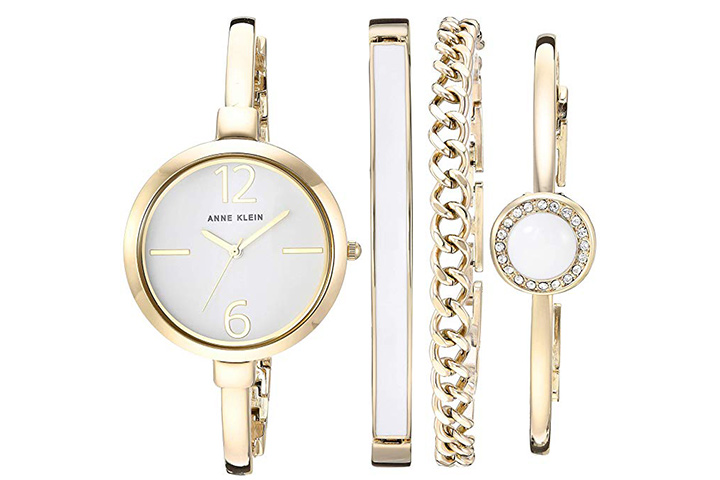Anne Klein Bangle Watch and Swarovski