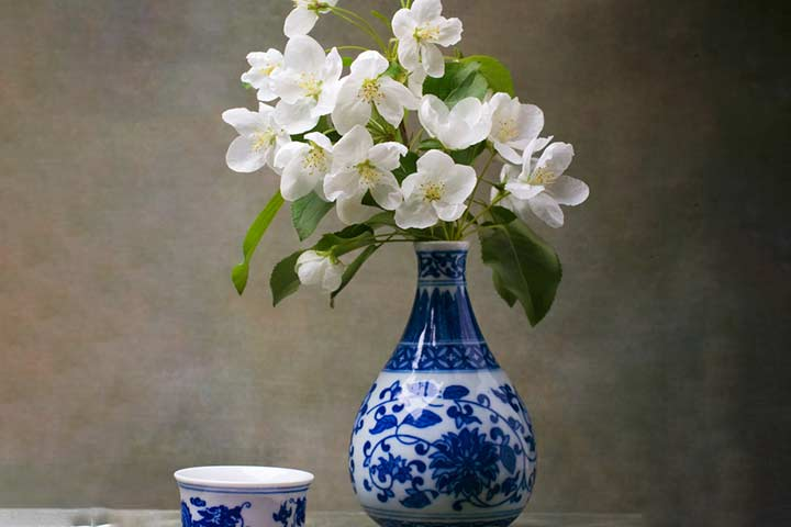 China flower vase