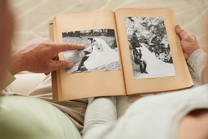 Couple photo collage or album