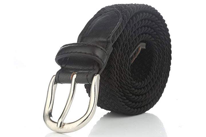 Gelante Children's Canvas Elastic Braided Belts