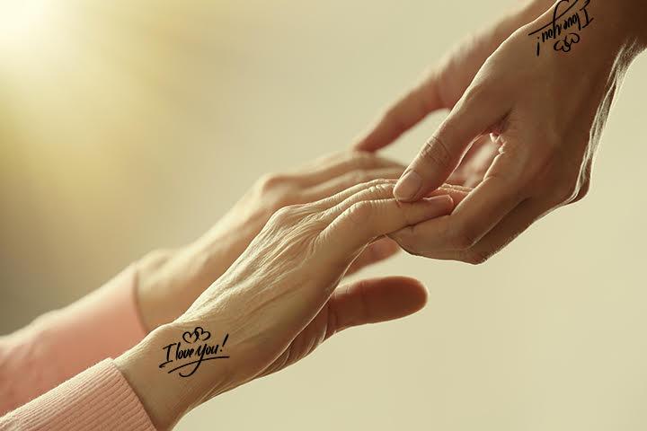 I-love-you tattoo