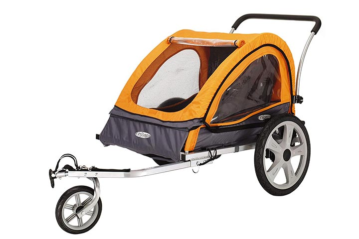 Instep Quick-N-EZ Double Seat Foldable Tow Behind Bike Trailers