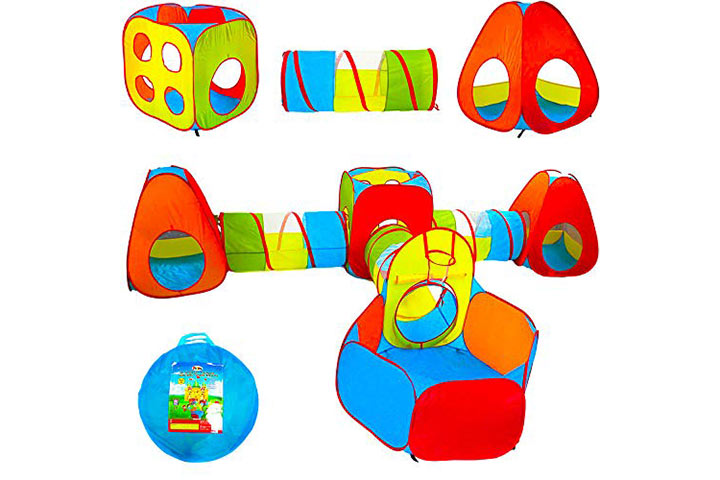 Playz Ball Pit, Play Tent and Tunnels for Kids, Gift for Toddler Boys & Girls